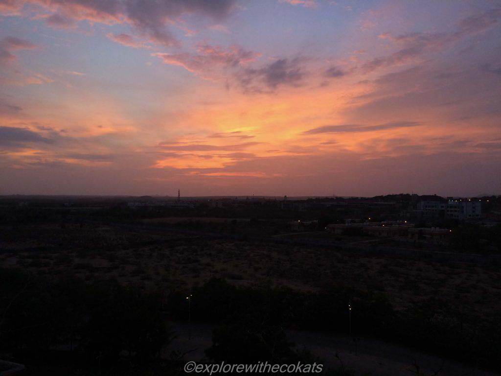 Regenta hotel sunset, Bhuj