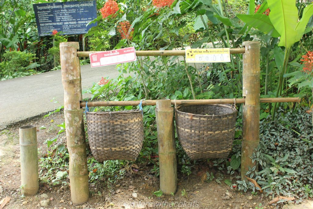 Kuang Si Waterfalls waste bins
