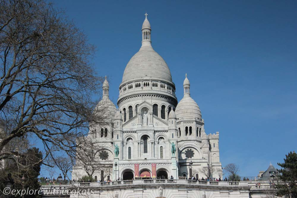 Sacré-Cœur Basilica at the top on Montmartre