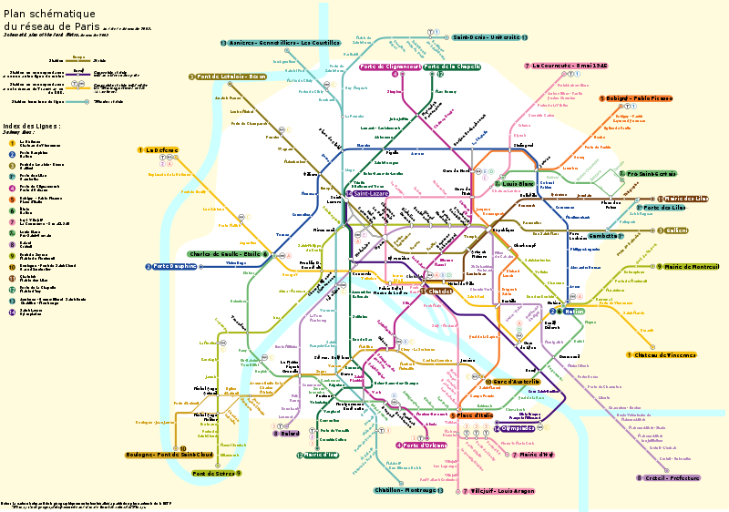 Metro map is must while traveling in Paris