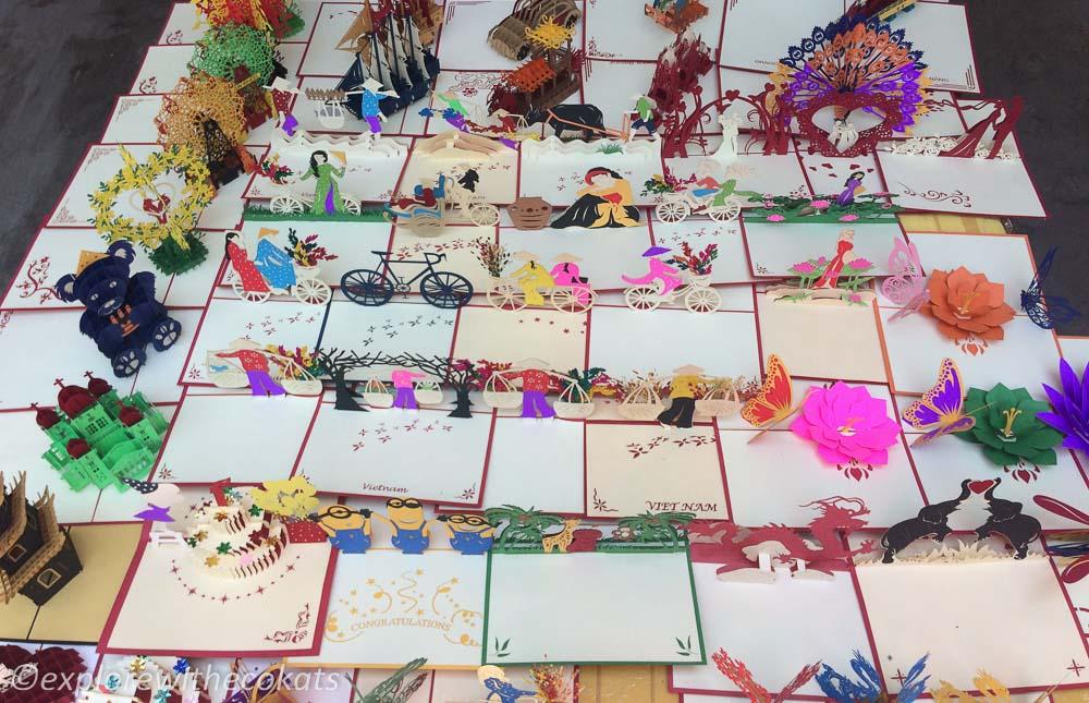 3D pop up cards as souvenir from vietnam